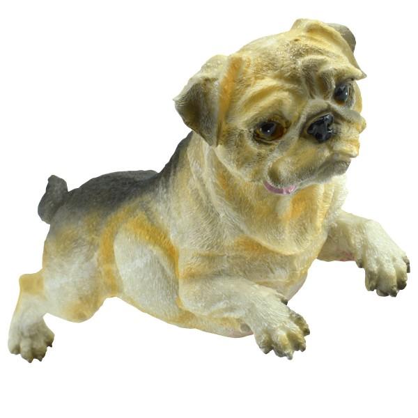 Hundefigur Mops Tierfigur Deko-Hund Gartenfigur Mopsfigur wetterfest