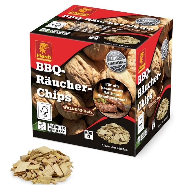 Flash BBQ-Räucher-Chips Walnuss-Holz 600g Räucherspäne Räucher-Holz Grill