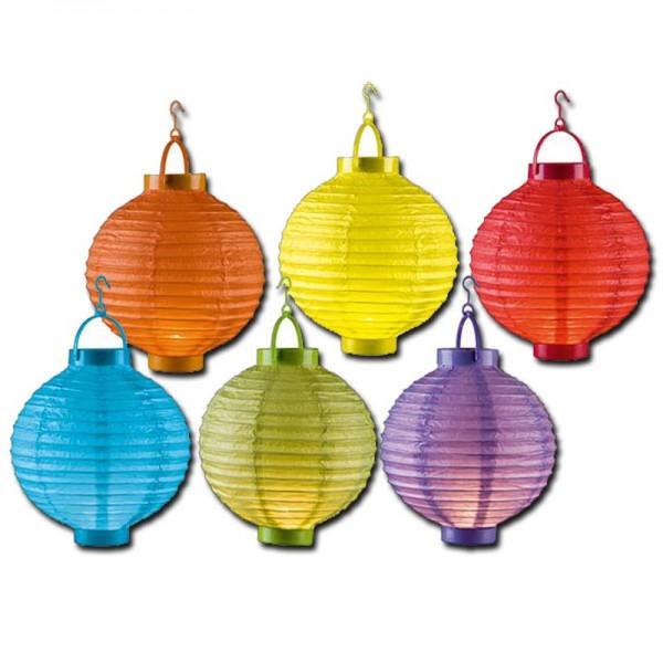 6er Set Papierlaterne Lampion Lampions Laterne Garten Ballon Party Papierlampion