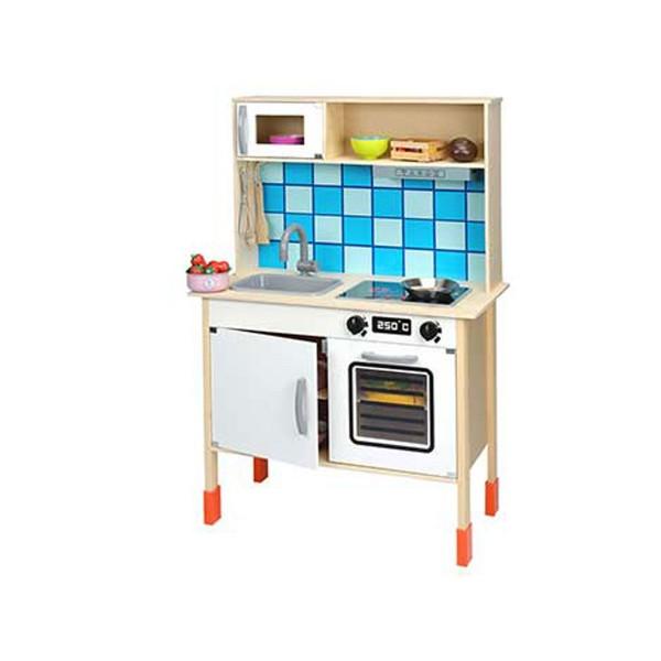BELUGA Kinderküche Spielküche Spielzeug-Küche Holzküche Holz inkl. Zubehör